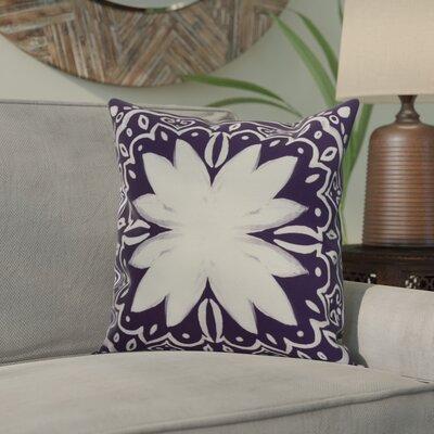 Crisler Print Indoor/Outdoor Throw Pillow Color: Purple, Size: 18 x 18