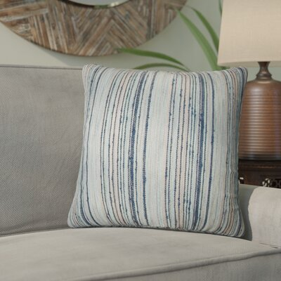 Aristocrat Stripes Throw Pillow Color: Blue