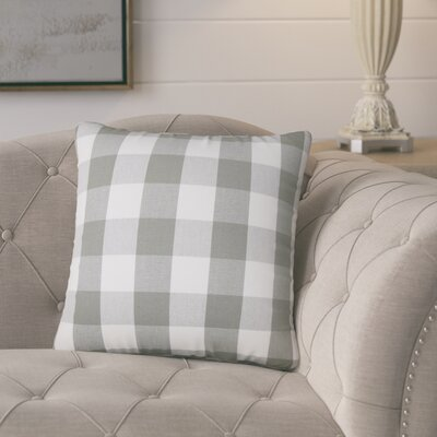 Berkeley Plaid Cotton Throw Pillow Color: Iron