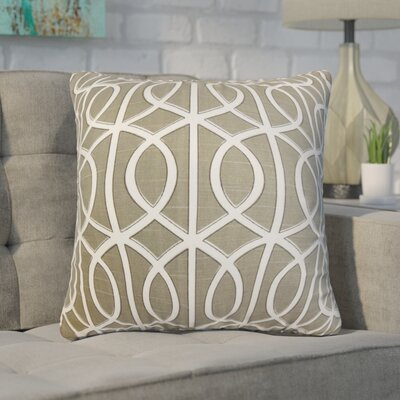 Nusbaum Geometric Cotton Throw Pillow Color: Brown