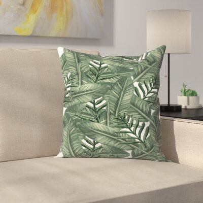 Jetty Printables Tropical Palm Leaf Pattern Throw Pillow Size: 14 x 14