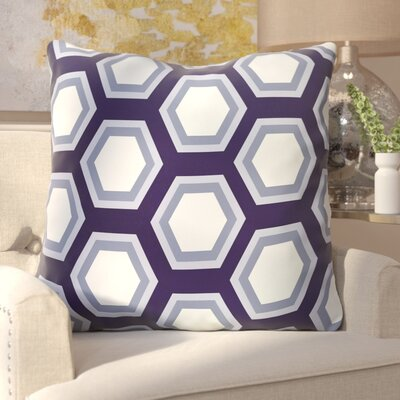 Agatha Geometric Print Outdoor Pillow Color: Bewitching, Size: 20 H x 20 W x 1 D