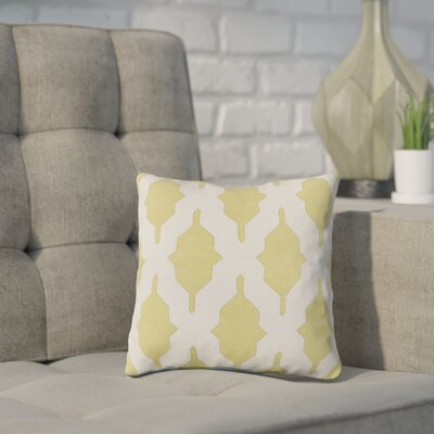 Meadors Throw Pillow Size: 18 H x 18 W x 4 D, Color: Lime, Filler: Down