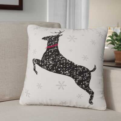 Foskey Deer 100% Cotton Throw Pillow