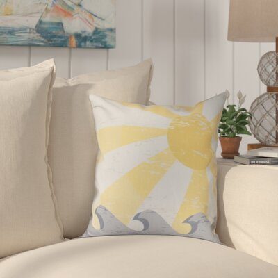 Pembrook Sunbeams Geometric Throw Pillow Size: 18 H x 18 W, Color: Yellow