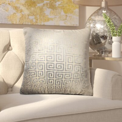 Cecily Geometric Cotton Throw Pillow