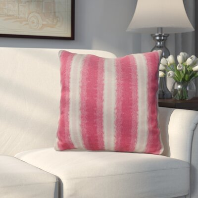 Wilkinsburg Sea Lines Indoor/Outdoor Throw Pillow Size: 18 H x 18 W, Color: Pink