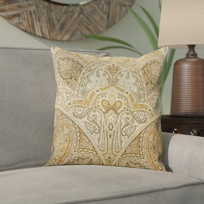 Wynnfield Throw Pillow Color: Sandstone, Size: 20 x 20