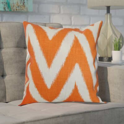 Moretti Cotton Throw Pillow Color: Melon, Size: 18 H x 18 W