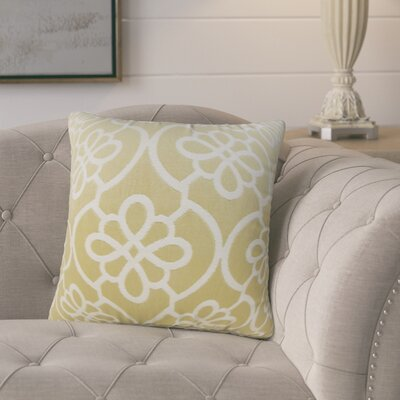 Adalric Geometric Cotton Throw Pillow Color: Almond