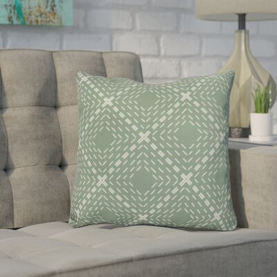 Shirley Outdoor Throw Pillow Size: 20 H x 20 W x 3 D, Color: Green