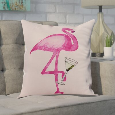 Crosswhite Single Flamingo Indoor/Outdoor Throw Pillow Color: Pink, Size: 16 x 16