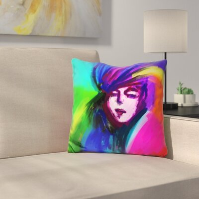Lady 217 Throw Pillow