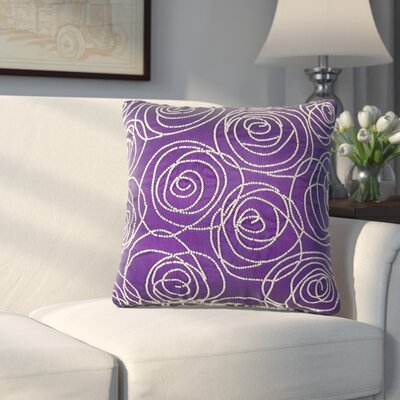 Creekmore Silk Throw Pillow (Set of 2) Color: Purple