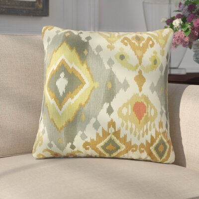 Georgio Ikat Cotton Throw Pillow Color: Yellow