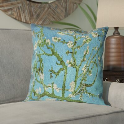 Lei Almond Blossom Suede Pillow Cover Color: Blue/Green