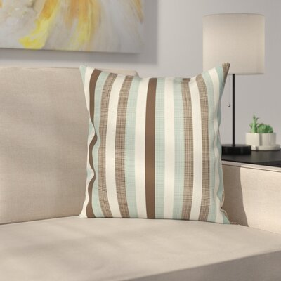 Retro Striped Classical Old Square Pillow Cover Size: 18 x 18