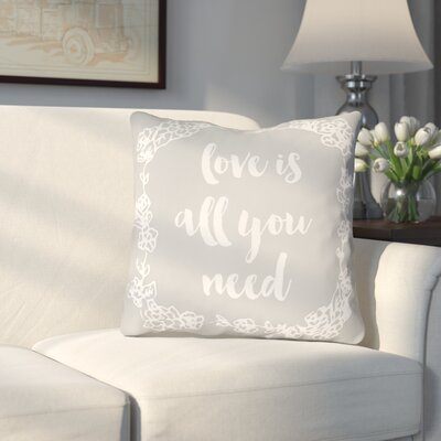 Lyle Indoor/Outdoor Throw Pillow Size: 18 H x 18 W x 4 D, Color: Gray
