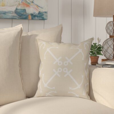 Hancock Anchors Up Geometric Print Throw Pillow Size: 26 H x 26 W, Color: Taupe