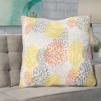 Valerio Indoor/Outdoor Euro Pillow Fabric: Bloom Tango