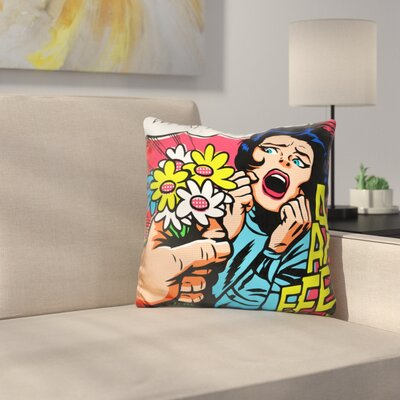 Knives and Flowers Throw Pillow