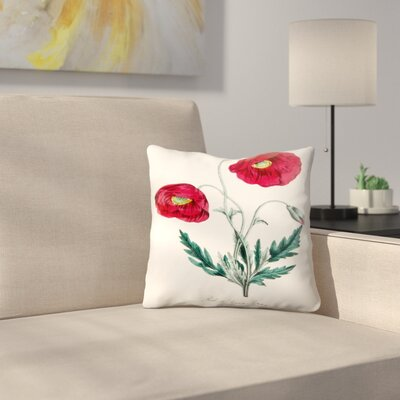 American Flora Poppy Throw Pillow Size: 14 x 14