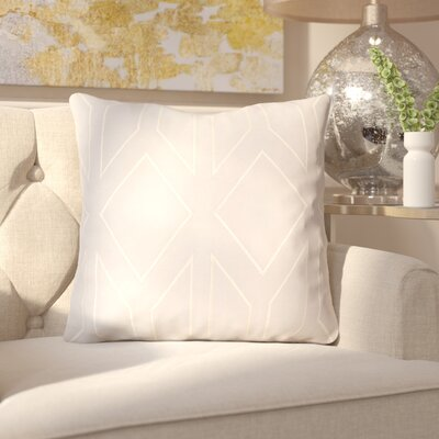 Honiton Linen Throw Pillow Size: 20 H x 20 W x 4 D, Color: Light Gray