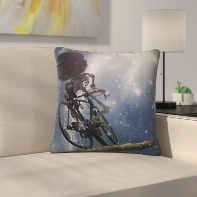 AlyZen Moonshadow No Rest for the Wicked Galactic Outdoor Throw Pillow Size: 18 H x 18 W x 5 D