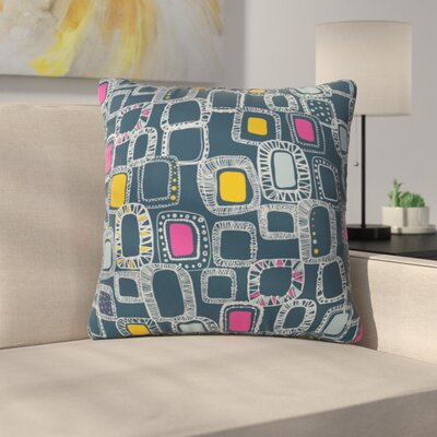 Shapes and Squares Polyester Throw Pillow Size: 20