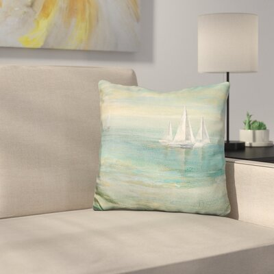 Sunrise Sailboats Throw Pillow