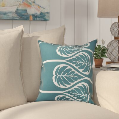 Hilde Outdoor Throw Pillow Size: 18 H x 18 W, Color: Teal
