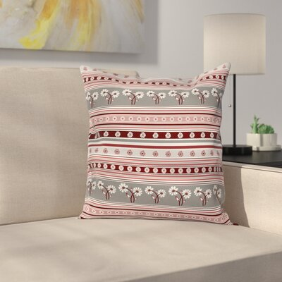 Modern Waterproof Floral Square Pillow Cover Size: 16 x 16