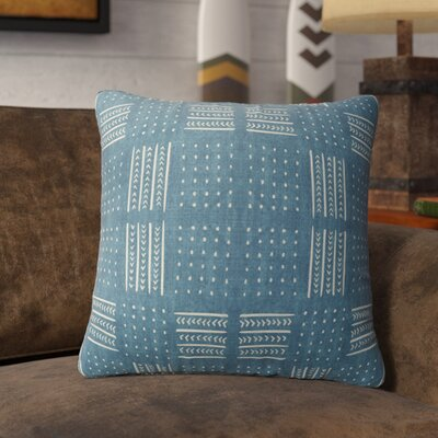 Couturier Geometric Throw Pillow with Zipper Color: Teal, Size: 18 H x 18 W