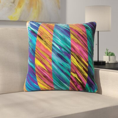 Set Stripes by Theresa Giolzetti Outdoor Throw Pillow Color: Pink