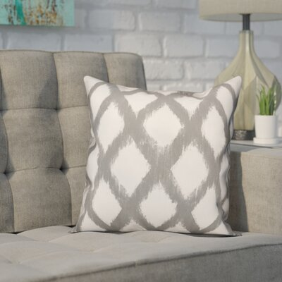 Worden Diamond Throw Pillow Color: Gray, Size: 16 x 16, Type: Pillow Cover