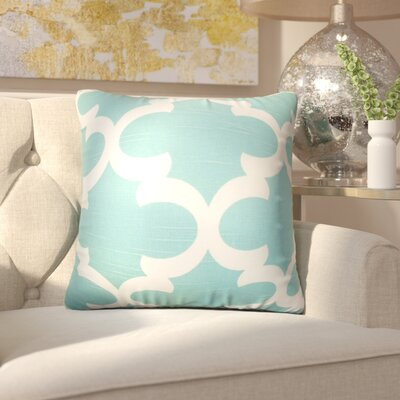Chitwood Geometric Cotton Throw Pillow Color: Spirit Blue