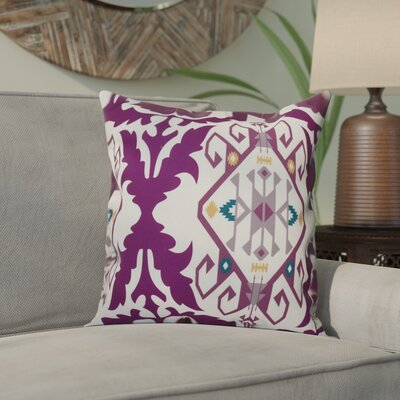 Oliver Bombay Medallion Geometric Outdoor Throw Pillow Size: 18 H x 18 W, Color: Purple