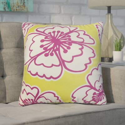 Arrant Floral Cotton Throw Pillow Color: Yellow