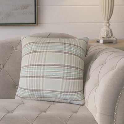 Levendoski Plaid Down Filled 100% Cotton Throw Pillow Size: 24