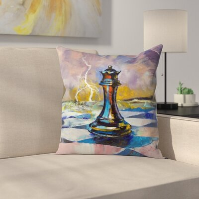 Michael Creese Queen of Chess Throw Pillow Size: 16 x 16