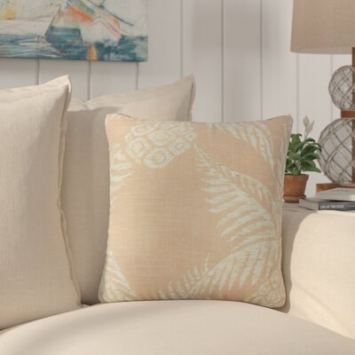 Medena Floral Cotton Throw Pillow Color: Blush