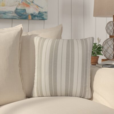 Capri Stripes Cotton Throw Pillow Color: Slate