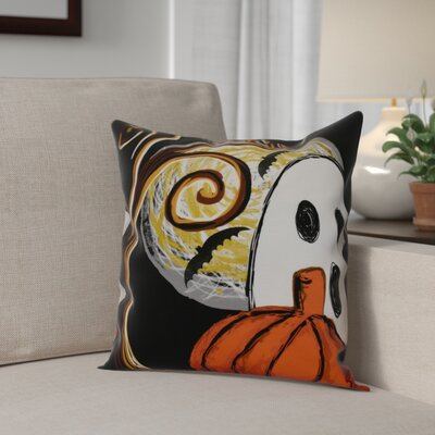 Flipping for Fall Ooky Spooky Outdoor Throw Pillow Size: 20 H x 20 W x 2 D, Color: Black