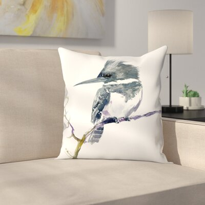 Belted Kingfisher 1 Throw Pillow Size: 20 x 20