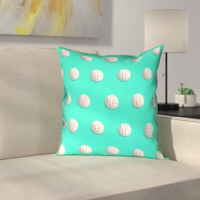 Volleyball Double Sided Print Pillow Cover Size: 26 x 26, Color: Teal