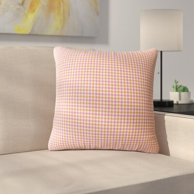 Bamburgh Plaid Down Filled 100% Cotton Throw Pillow Size: 24 x 24, Color: Pink