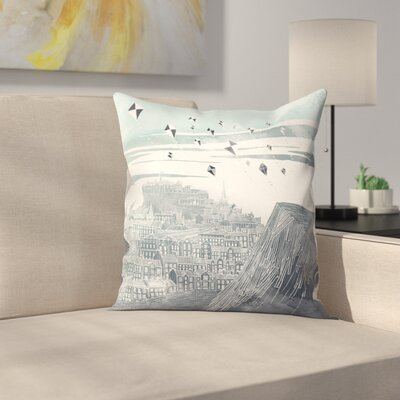 Kites at Dawn Throw Pillow Size: 20 x 20, Color: Gray