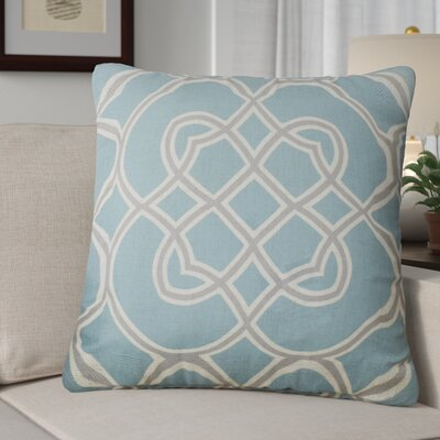 Kupfer Throw Pillow Size: 18 H x 18 W x 4 D, Color: Cameo Blue / Dove Gray / Parchment, Filler: Down