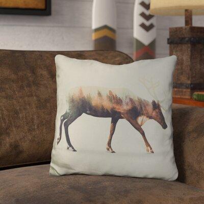 Leonidas the Reindeer Norwegian Woods Throw Pillow