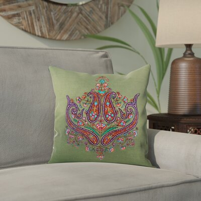 Bourget Paisley Grandeur Wool Pillow Cover Color: Green